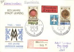 DDR 3316/17,2831 Auf R-Eilboten-Brief - Briefe U. Dokumente