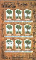 J) 2000 FRANCE, CONDOMINIUM OF NEW HEBRIDES, TREE, KAORI WOOD INDUSTRY, SOUVENIR SHEET - France