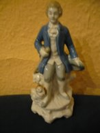 Porzellan Figur - Rokkoko-Jüngling Mit Hund  (798) - Sonstige