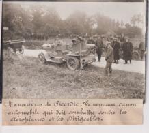 MANOEUVRES PICARDIE CANON AUTOMOBILE CONTRE AÉROPLANES ET DIRIGEABLES  18*13CM Maurice-Louis BRANGER PARÍS (1874-1950) - Coches