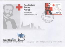 Privatpost Nordkurier 2008 42 Cent Rotes Kreuz FDC - [7] Federal Republic