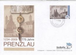 Privatpost Nordkurier 2009 42 Cent 775 Jahre Prenzlau FDC - [7] Federal Republic