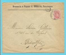 "138 Op Brief Stempel FARCIENNES , Met Hoofding "" BRASSERIE à Vapeur G.BROUTA"" - 1915-1920 Albert I"
