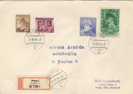 CSSR 425,416,436,449 Auf R-Brief - Briefe U. Dokumente