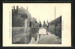 CPA Juvisy-sur-Orge, Les Inondations De Janvier 1910, La Rue De Caulois - Juvisy-sur-Orge