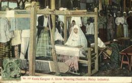 Straits, Malay Malaysia Perak, KUALA KANGSAR, Show Weaving Industry (1909) - Malaysia