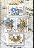 J) 2012 BURUNDI, BYCICLES, CYCLING ON ROAD, CYCLING ON TRACK, SOUVENIR SHEET - Burundi