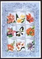 Zambia, 1997. [zam9715] Flowers (s/s) - Orchideeën