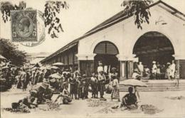 Straits Settlements, Malay Malaysia, PENANG, Native Market (1910s) Tuck Postcard - Malaysia