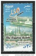 Egypt 2010 ( 130 Anniv. Of The Egyptian Gazette - Quality Journalism ) - MNH (**) - Nuovi