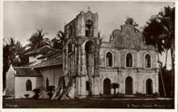 Malay Malaysia, MALACCA, St. Peter's Church (1930s) RPPC Postcard - Malaysia
