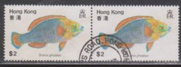 HONG KONG Scott # 372 Used Pair - Fish - Used Stamps
