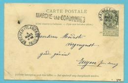 Entier Met Stempel BRAINE-LE-COMTE Met Naamstempel (Griffe D'origine) MARCHE-LEZ-ECAUSSINNES - Stamped Stationery