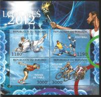 J) 2012 BURUNDI, JUDO, FOTBALL, TENIS TABLE, RACE BIKE, SOUVENIR SHEET - Burundi