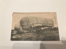 CAMP DE BRASSCHAET,- Aérostiers Du Génie.- Le Ballon Cerf-Volant Au Repos - Zeppelin -   (Brasschaat - Militaria ) - Brasschaat