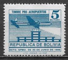 Bolivia 1955. Scott #RA23 (M) Plane Over Airport - Bolivia