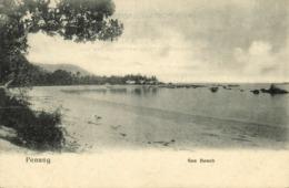 Straits Settlements, Malay Malaysia, PENANG, Sea Beach (1899) Postcard - Malaysia