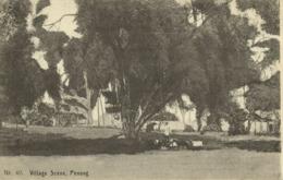 Malay Malaysia, PENANG, Village Scene (1910s) Postcard - Malaysia