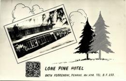 Malay Malaysia, PENANG, Batu Ferringhi, Lone Pine Hotel (1950s) RPPC - Malaysia