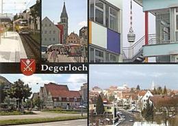 """Stuttgart Degerloch - Zahnradbahn """"Zacke"""" Degerloch, Bezirksrathaus Und Michaelskirche, Fernsehturm.. (1366) - Stuttgart"""
