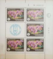 O) 1971 VENEZUELA, SOCIETY OF NATURAL HISTORY - FLOWERS - CATTLEYA LAWRENCIANA - ORCHIDS - EMBLEM, MNH - Venezuela