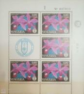 O) 1971 VENEZUELA, SOCIETY OF NATURAL HISTORY - FLOWERS - CATTLEYA VIOLACEA, MNH - Venezuela