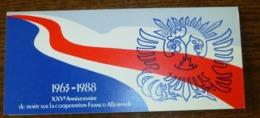 émission Commune Du Traité De La Coopération Franco-Allemande 1988 : ADENAUER-DE GAULLE En Parfait état - Gemeinschaftsausgaben