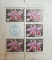 O) 1971 VENEZUELA, SOCIETY OF NATURAL HISTORY - EMBLEM, FLOWERS - CATTLEYA GASKELLIANA - ORCHIDS, MNH - Venezuela