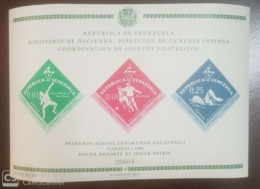 O) 1962 VENEZUELA, NATIONAL SPORTS GAMES - SHOWN - SOCCER - SWIMMING, MNH - Venezuela