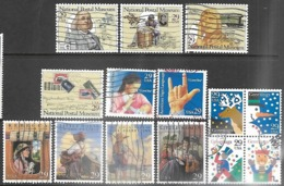 US  1993  Sc#2779-88 & 2794a 14 Diff With Christmas Block Used - Vereinigte Staaten