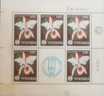 O) 1971 VENEZUELA, SOCIETY OF NATURAL HISTORY - FLOWER - CATTLEYA PERCIVALIANA - ORCHIDS, MNH - Venezuela