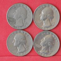 USA    - LOT OF COINS -  4  UNIDADES  - (Nº11179) - Stati Uniti