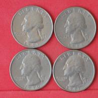 USA    - LOT OF COINS -  4  UNIDADES  - (Nº11180) - Stati Uniti
