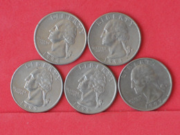 USA    - LOT OF COINS -  5  UNIDADES  - (Nº11181) - Stati Uniti