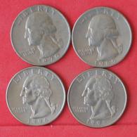 USA    - LOT OF COINS -  4  UNIDADES  - (Nº11182) - Stati Uniti