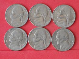 USA    - LOT OF COINS -  6  UNIDADES  - (Nº11187) - Stati Uniti