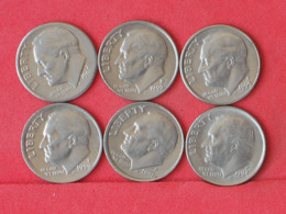 USA    - LOT OF COINS -  6  UNIDADES  - (Nº11192) - Stati Uniti
