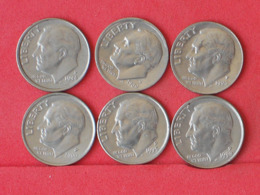 USA    - LOT OF COINS -  6  UNIDADES  - (Nº11193) - Stati Uniti