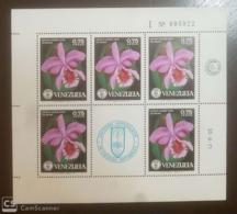 O) 1971 VENEZUELA, SOCIETY OF NATURAL HISTORY - FLOWERS - CATTLEYA MOSSIAE - ORCHIDS, MNH - Venezuela