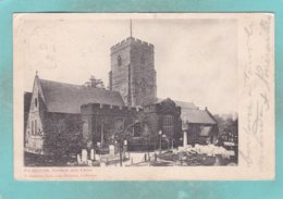 Small Old Post Card Of The Church And Cross,Folkestone,Kent,England.,S72. - Folkestone