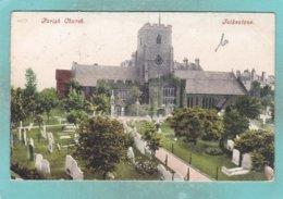 Small Old Post Card Of Parish Church,Folkestone,Kent,England.,S73. - Folkestone