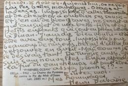 HENRI DABADIE PEINTRE AUTOGRAPHE 8 AOUT 1944 CPA - Autographes