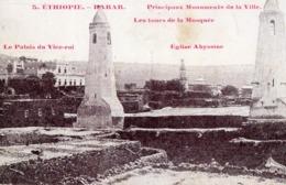 Ethiopie. CPA. HARAR.  Monuments, Tours De La Mosquée, Palais Du Vice Roi, église Abyssine. 1920. - Ethiopie