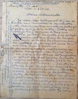 HENRI DABADIE PEINTRE LETTRE AUTOGRAPHE NOUZILLY 11 AOUT 1947 - Autographes