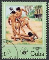 Cuba - Kuba 1985 Y&T N°2610 - Michel N°2927 (o) - 1c Partie De Football - Usados