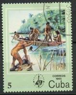Cuba - Kuba 1985 Y&T N°2612 - Michel N°2929 (o) - 5c Pêcheur - Usados