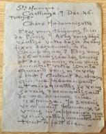HENRI DABADIE PEINTRE LETTRE AUTOGRAPHE CARTHAGE 9 DECEMBRE 1945 - Autographes