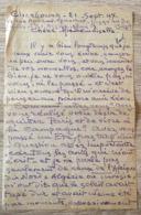 HENRI DABADIE PEINTRE LETTRE AUTOGRAPHE CHERBOURG 21 SEPTEMBRE 1947 - Autographes