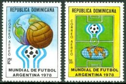 DOMINICAN REPUBLIC 1978 FOOTBALL WORLD CUP AT ARGENTINA** (MNH) - Dominicaine (République)