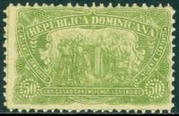 DOMINICAN REPUBLIC 1899 DISCOVERY OF AMERICA, 50c DE LAS CASAS** (MNH) - Dominicaine (République)